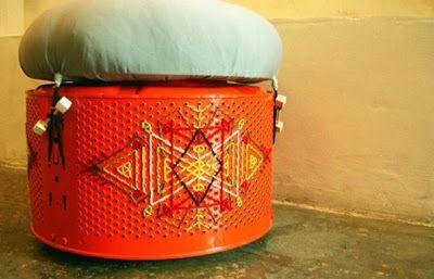 OTOMANAS hechas de Lavadoras Recicladas