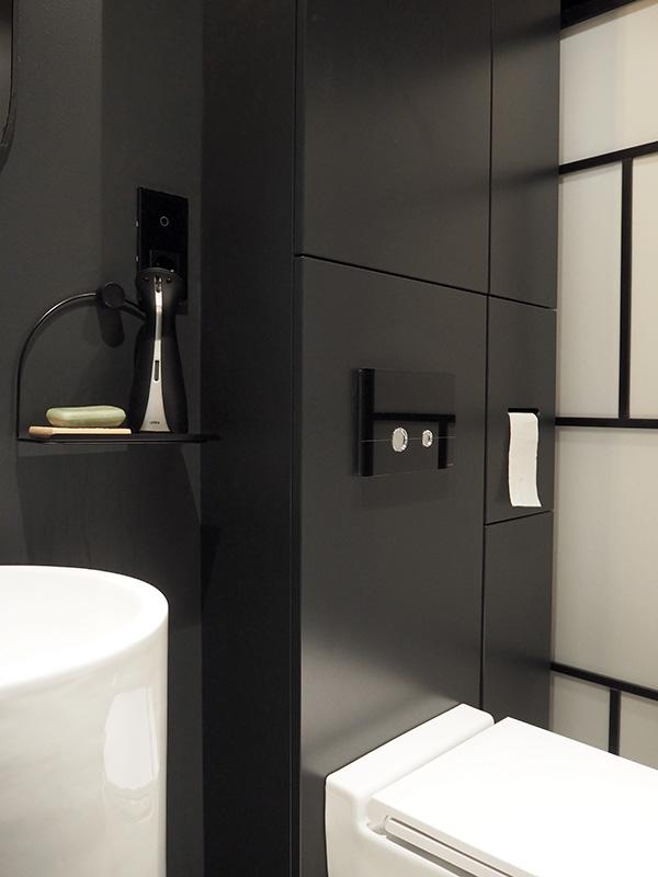 Czarna Lazienka I Inne Kolory W Naszym Domu Zielona Sciana Simplicite Bathroom Toilet