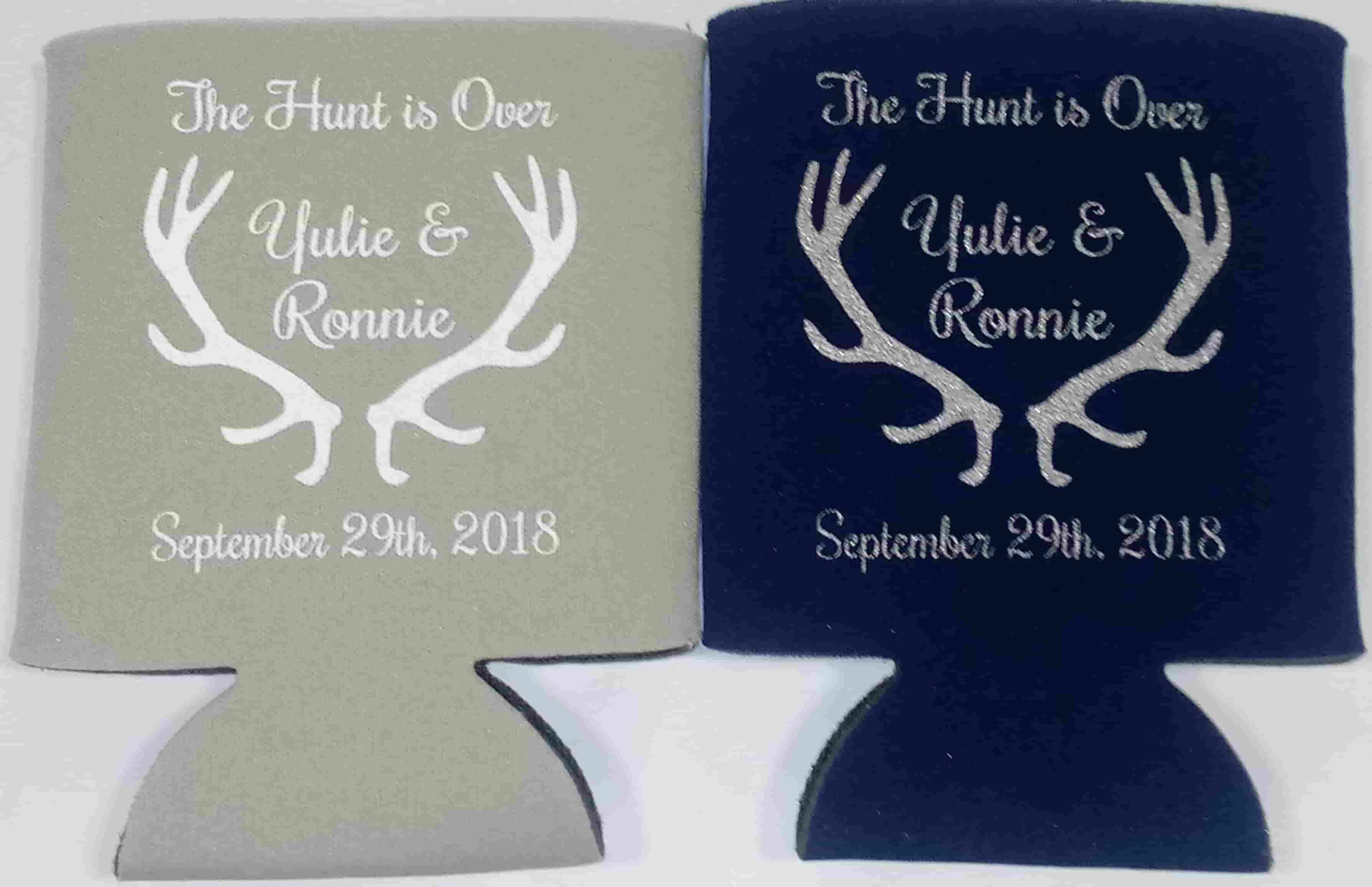 Fall Wedding Koozies fall in love pumpkin double sided no minimums can coolers