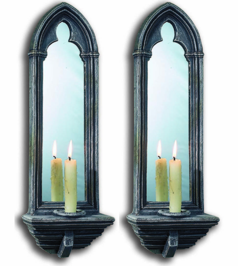Gothic Wall Sconces: Gothic Mirrors By CHAPTER HOUSE DESIGN Church Candle
