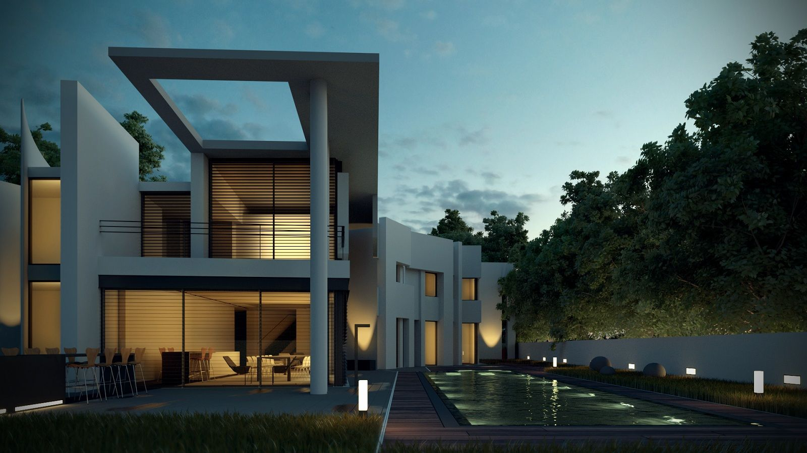 Blender Architektur Rendering Gh House Was Rendered In Blender Cycles Architecture