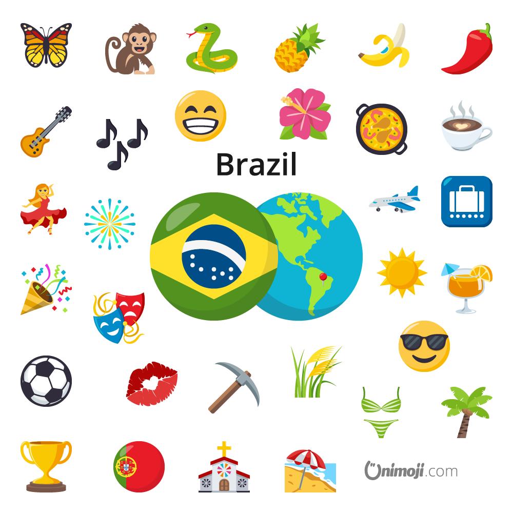Pin By Unimoji On Brazil In 2020 Brazil Emoji Economy