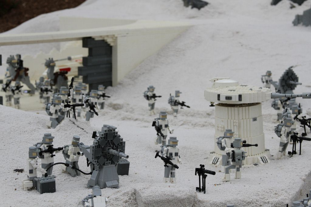 Battle On The Frozen Planet Hoth Lego Star Wars Miniland At
