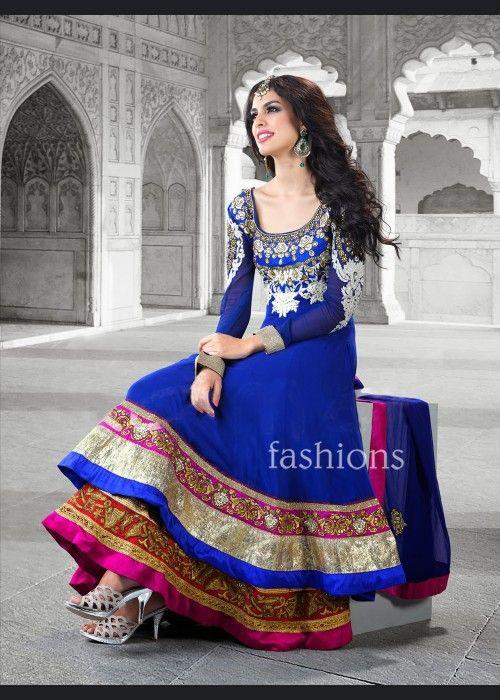Unique Blue Salwar Kameez . Buy at - http://www.gravity-fashion.com/12551-unique-blue-salwar-kameez.html