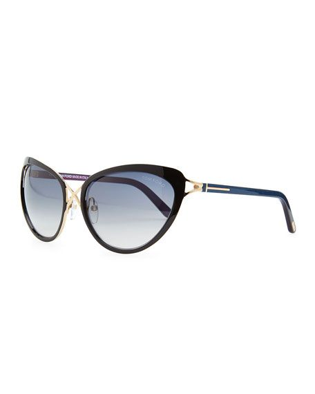 68e2fc2a9106 Tom Ford - Daria Metal Cross-Front Cat-Eye Sunglasses