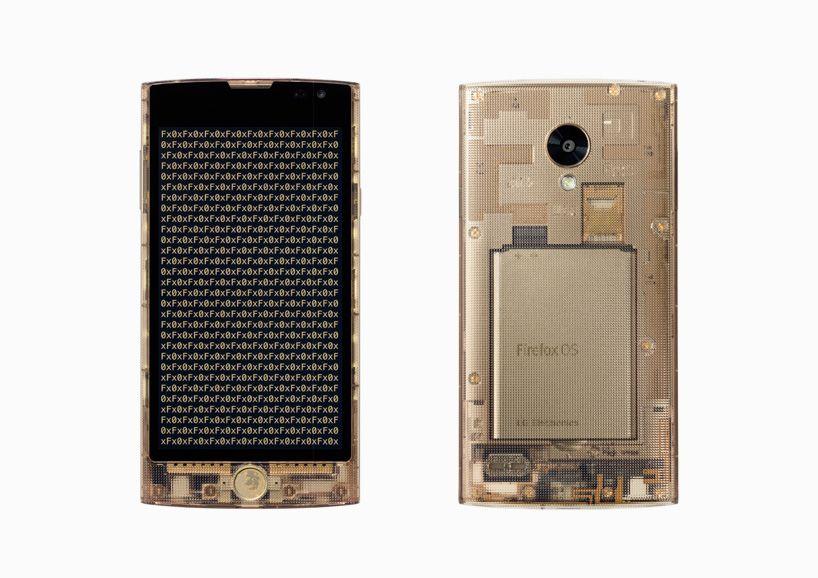 tokujin yoshioka designed transparent smartphone Fx0 for au by KDDI