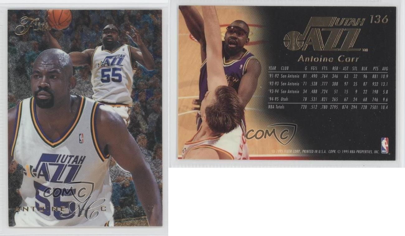 Details about 1995 96 Flair 136 Antoine Carr Utah Jazz Basketball
