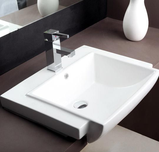 Buy Hindware Tessa Semi Recessed Basin 91055 In Washbasins