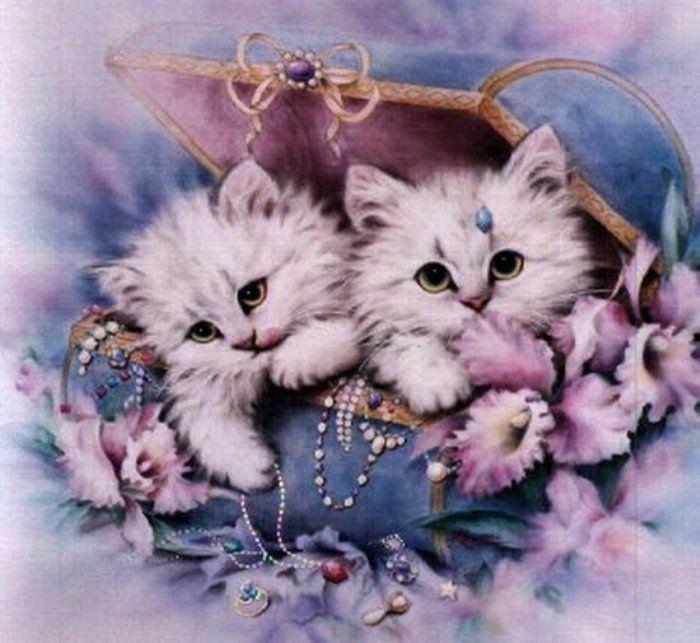 Картинки с анимациями котят, цветов