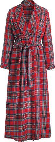 bff4ee025b0e Womens Portuguese Flannel Wrap Robe