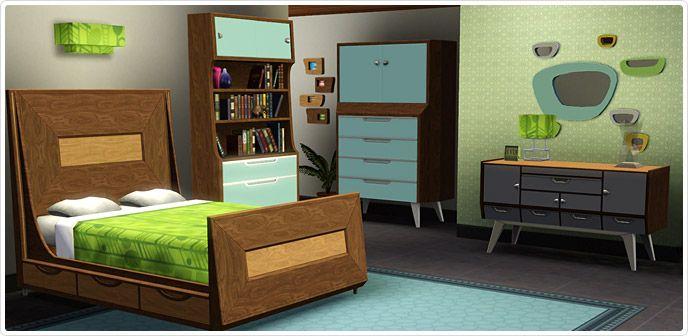 Conjunto de quarto e banheiro modernos dos anos 50 store for Mobilia anos 50