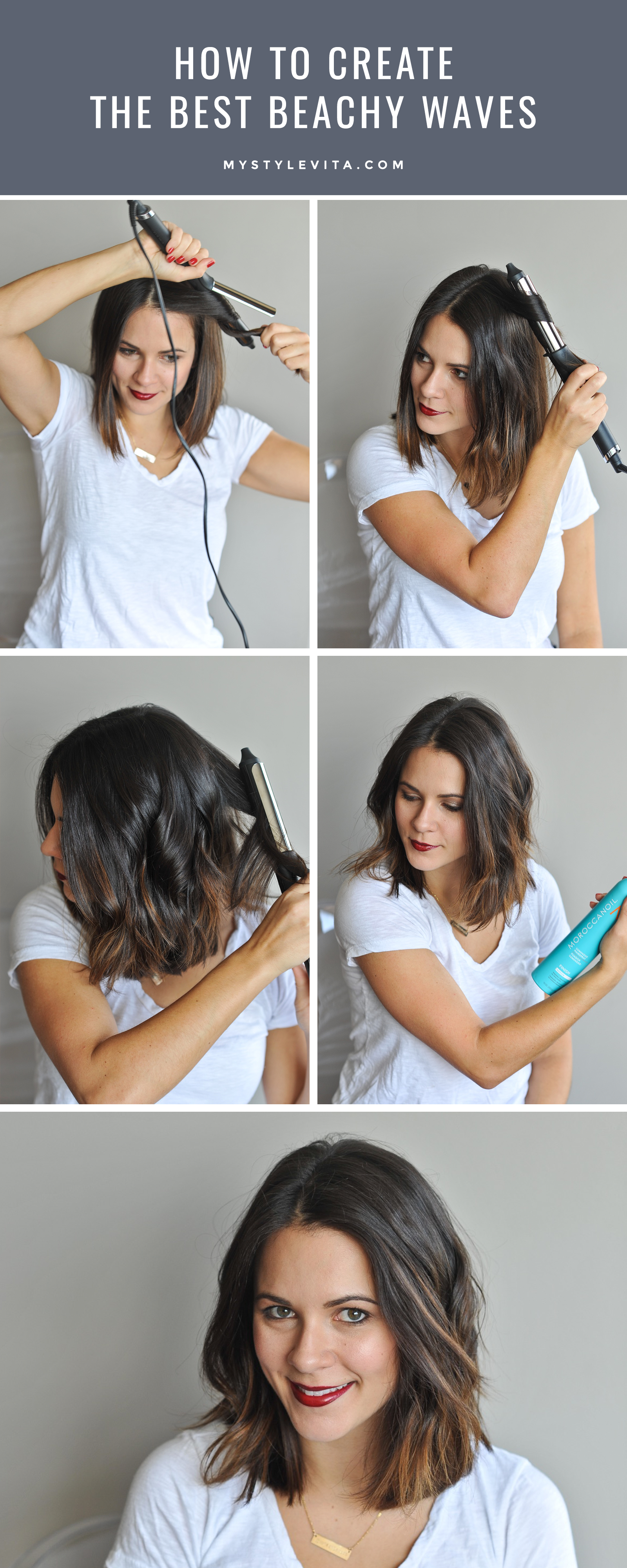 how to create the perfect beachy waves, hair tutorial - my