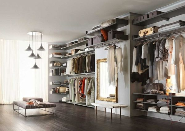 Gestaltung ankleidezimmer ~ Begehbarer kleiderschrank planen ankleidezimmer schick