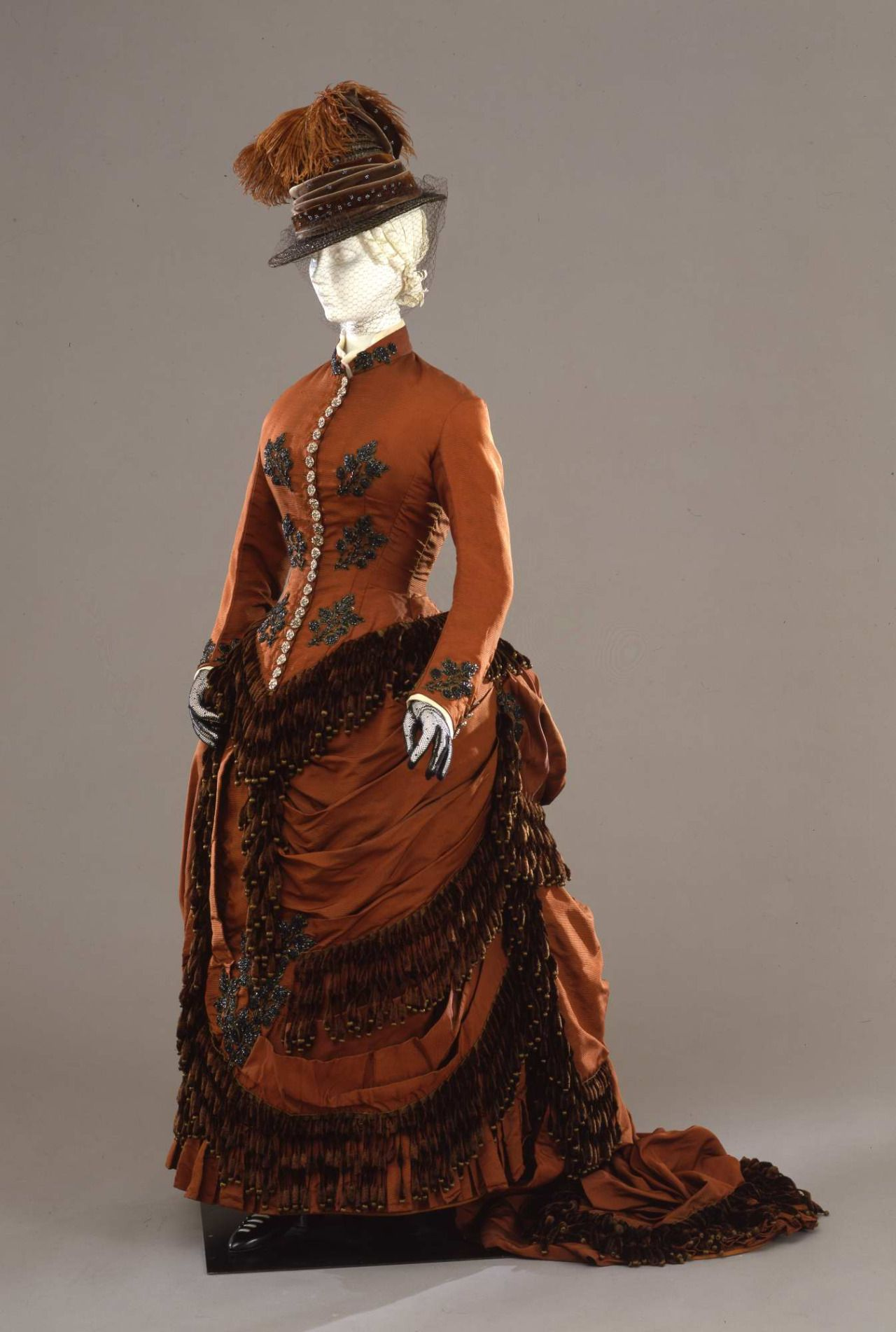 Fripperiesandfobs:Day Dress Ca. 1880-82From The Galleria