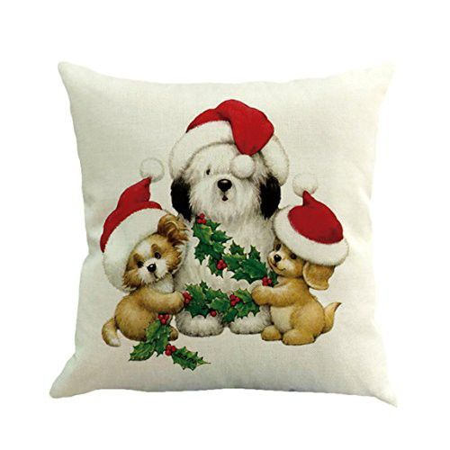 Cushion Cover Clearance ♥ Christmas Printing Dyeing Sofa Bed Home - christmas clearance decor