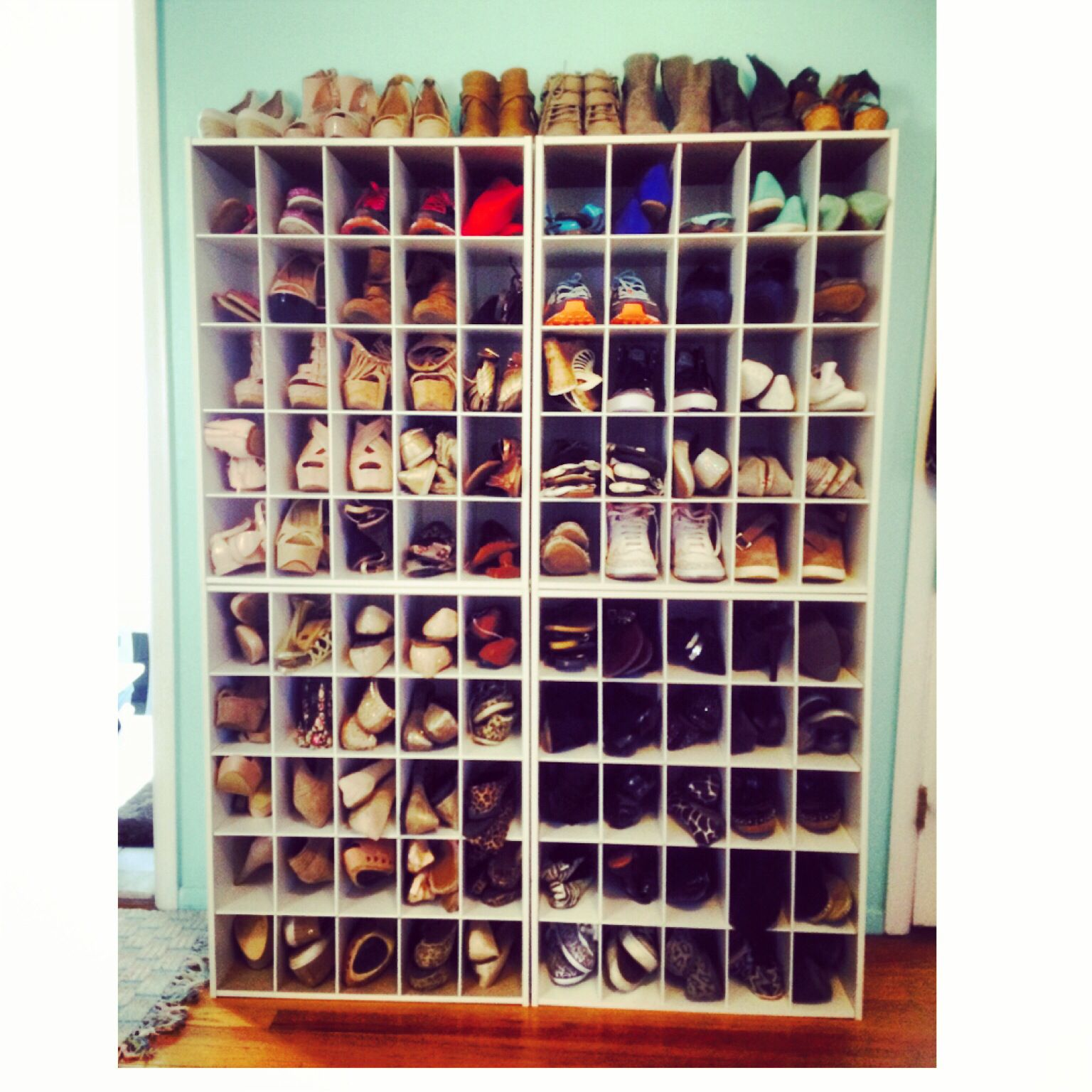 Shoe Cubbies From Lowes Diy Organization Shoe Cubby Home