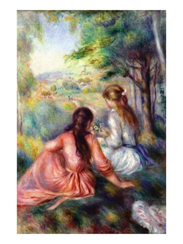 In the meadow by Pierre-Auguste Renoir Giclee Fine ArtPrint Repro on Canvas