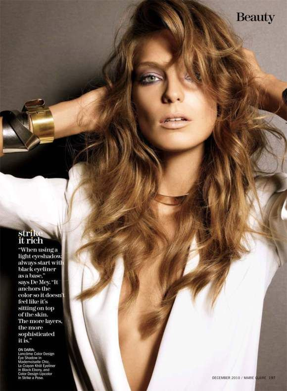 Daria Werbowy for Marie Claire US December 2010