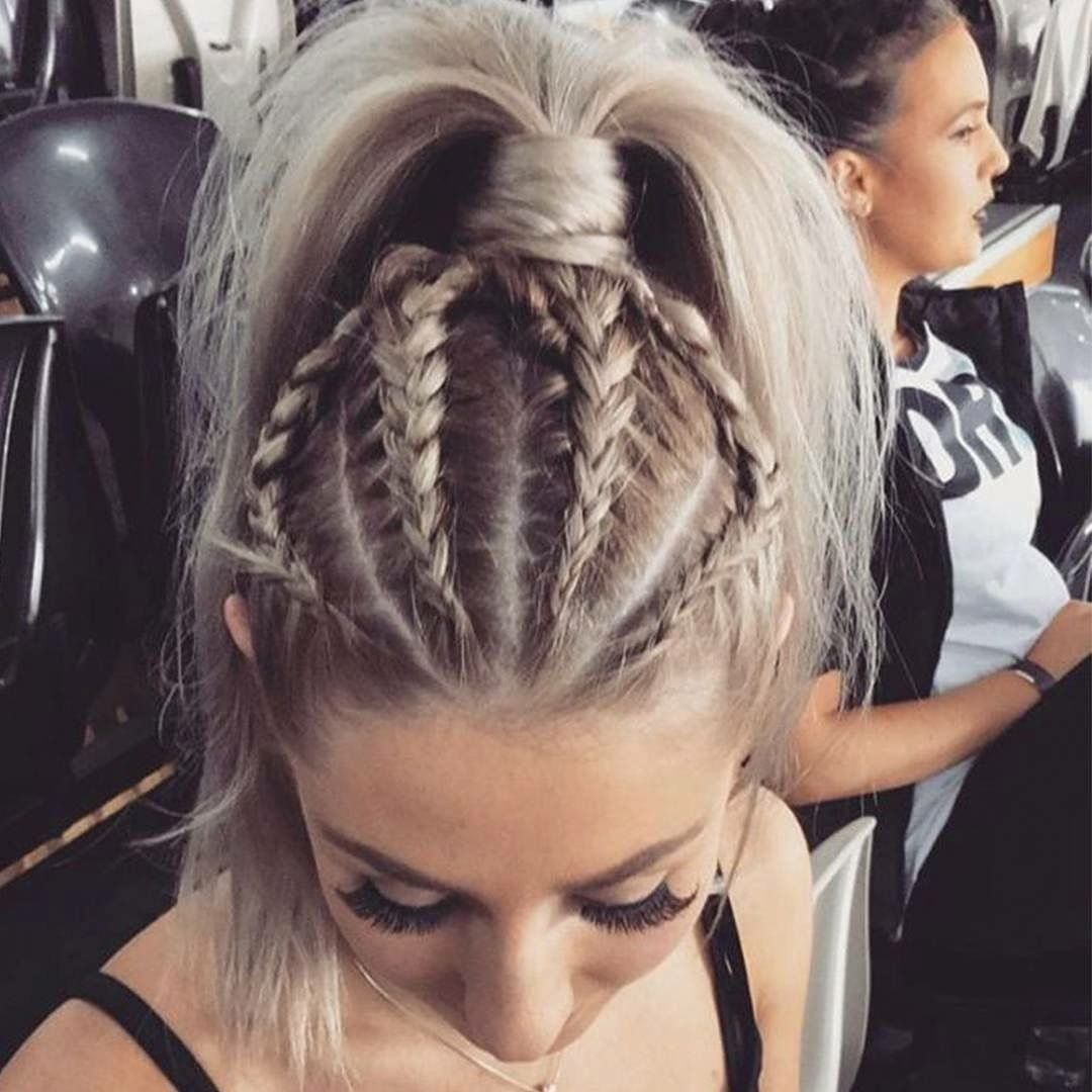 Braids and a pony tail aesthetic pinterest hairspray and make up
