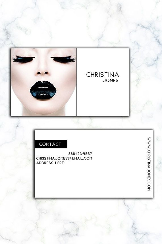 Make up Artist  Model Custom Business Card. by iloladesign on Etsy