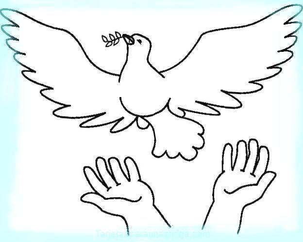 Paloma De La Paz En Imagenes Para Pintar Aves Love Coloring