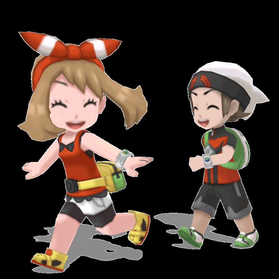 Mmd Pokemon Brendan And May Overworld Dl By Mmdsatoshi