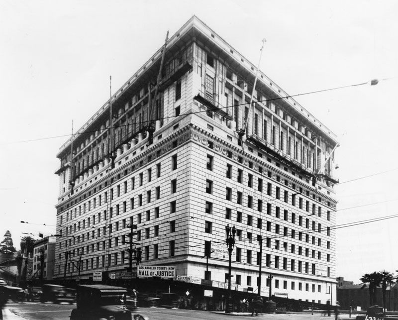 The New Hall Of Justice Showing Broadway And Temple St Elevations Http Photos Lapl Org Carlweb Jsp Los Angeles Downtown Los Angeles Los Angeles County