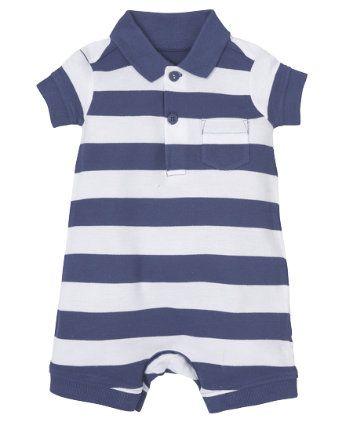 3f392d091543 Mothercare Navy Stripe Romper