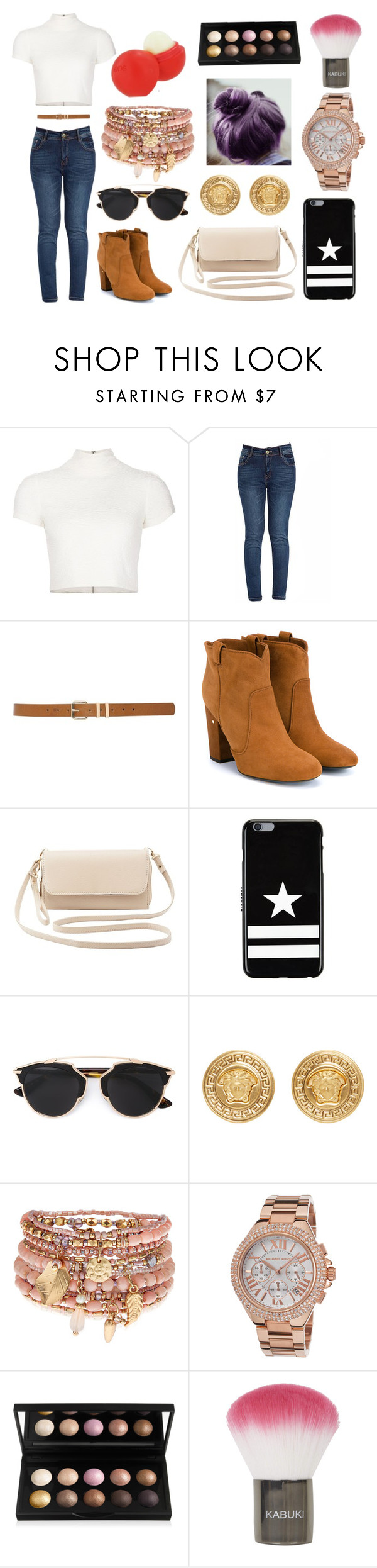 """""""Untitled #2562"""" by onedirection-h1n1l2z1 on Polyvore featuring Alice + Olivia, M&Co, Laurence Dacade, Charlotte Russe, Givenchy, Christian Dior, Versace, Accessorize, Michael Kors and Eos"""