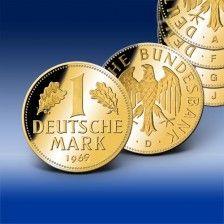 Komplett Set 1 DM 1969 vergoldet D mark, Silbermünzen, Euro
