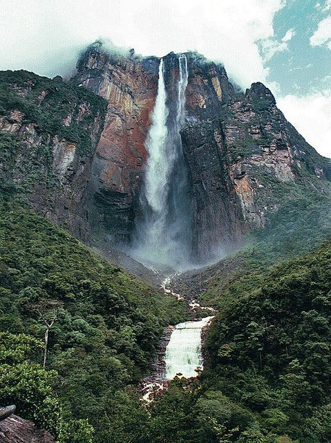 the Angel Falls in Venezuela was also in my first Scholastic Atlas when I was a little girl.  Instead of a circle though, it's starred. Must be my #1 Thing to See Before I Die.