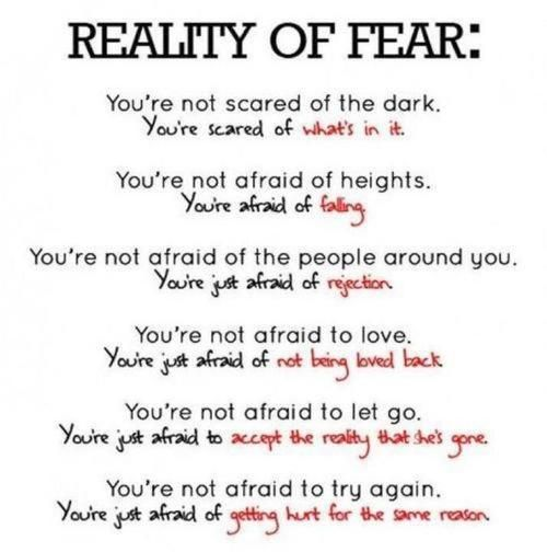 I Always Say That I M Not Afraid Of Heights But Of Falling Words Inspirational Quotes Scared Of The Dark