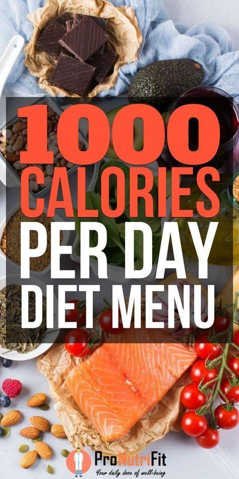 Photo of 1000 Kalorien pro Tag Diätmenü