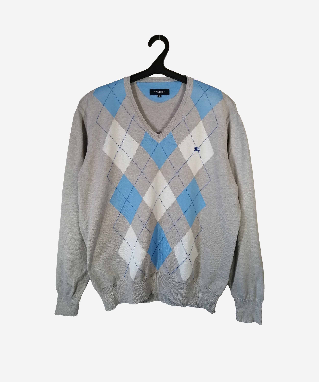 Vintage Italian BOTTO Men/'s Multicolor Wool Crewneck Pullover Sweater Large