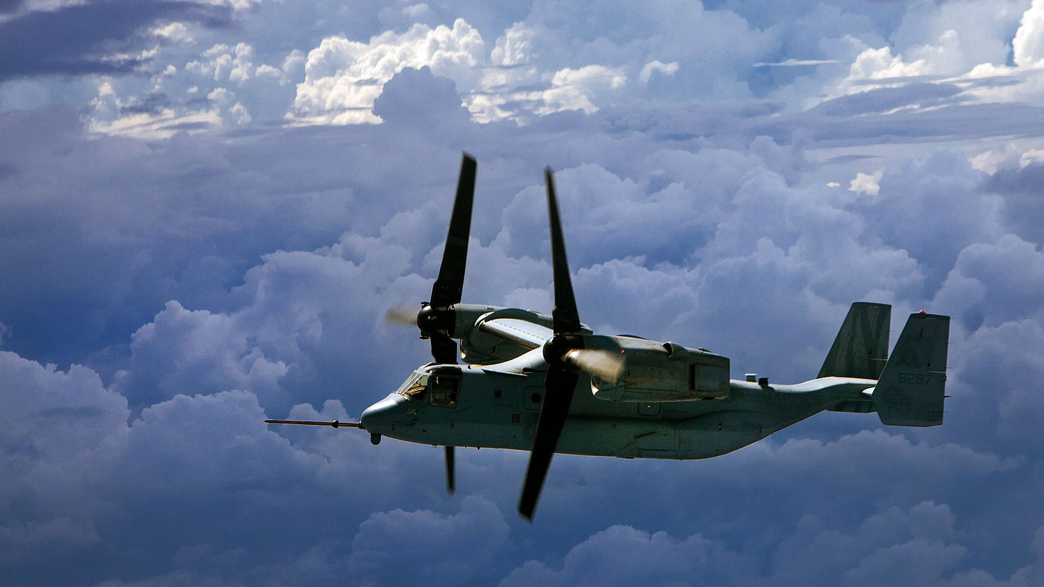 Osprey Flying Over Clouds Us military aircraft, Military