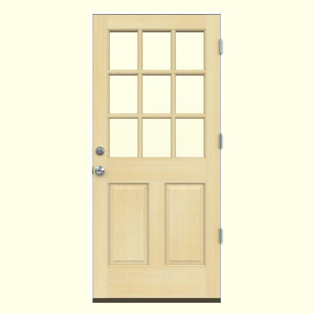 Unique Prehung Wood Entry Door