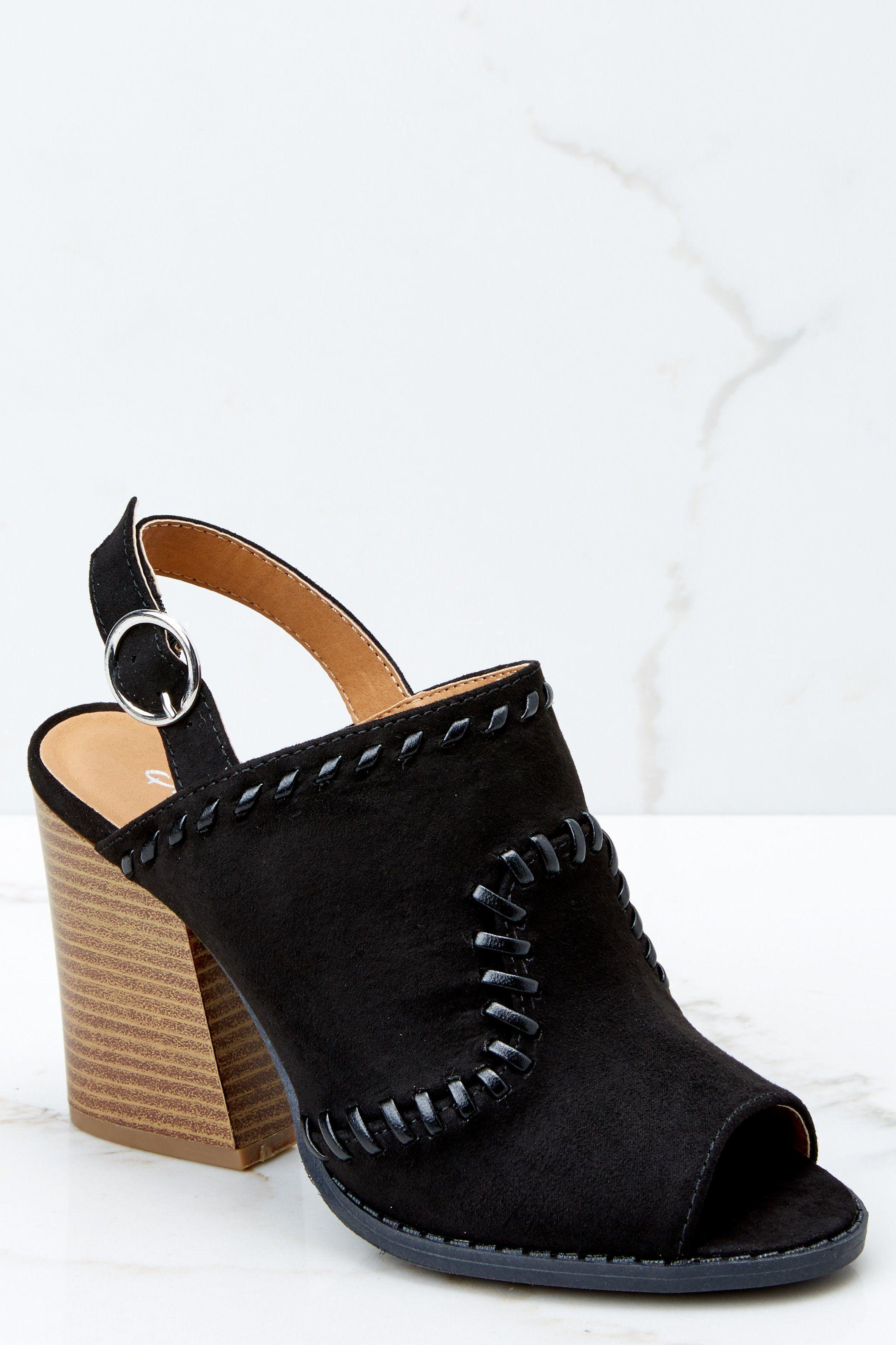 cbde1e9b3dcd Trendy Black Peep Toe Heels - Ankle Strap Heels - Heels -  38.00 – Red Dress  Boutique
