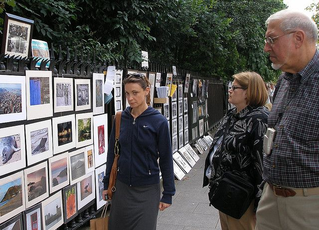 """SEE LARGE... The Bray Camera Club stand at the Peoples Photography Exhibition at Stephen's Green, Dublin and a viewer with that """"I know you're taking a shot of me"""" stare.....     surprising   Visit http://www.topbestdigitalcamera.net"""