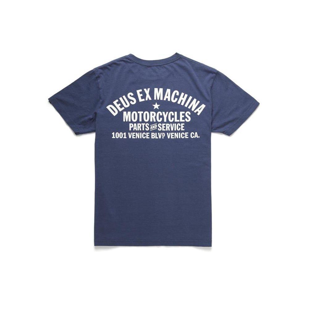 Deus Ex Machina Camperdown Address T-Shirt - Navy