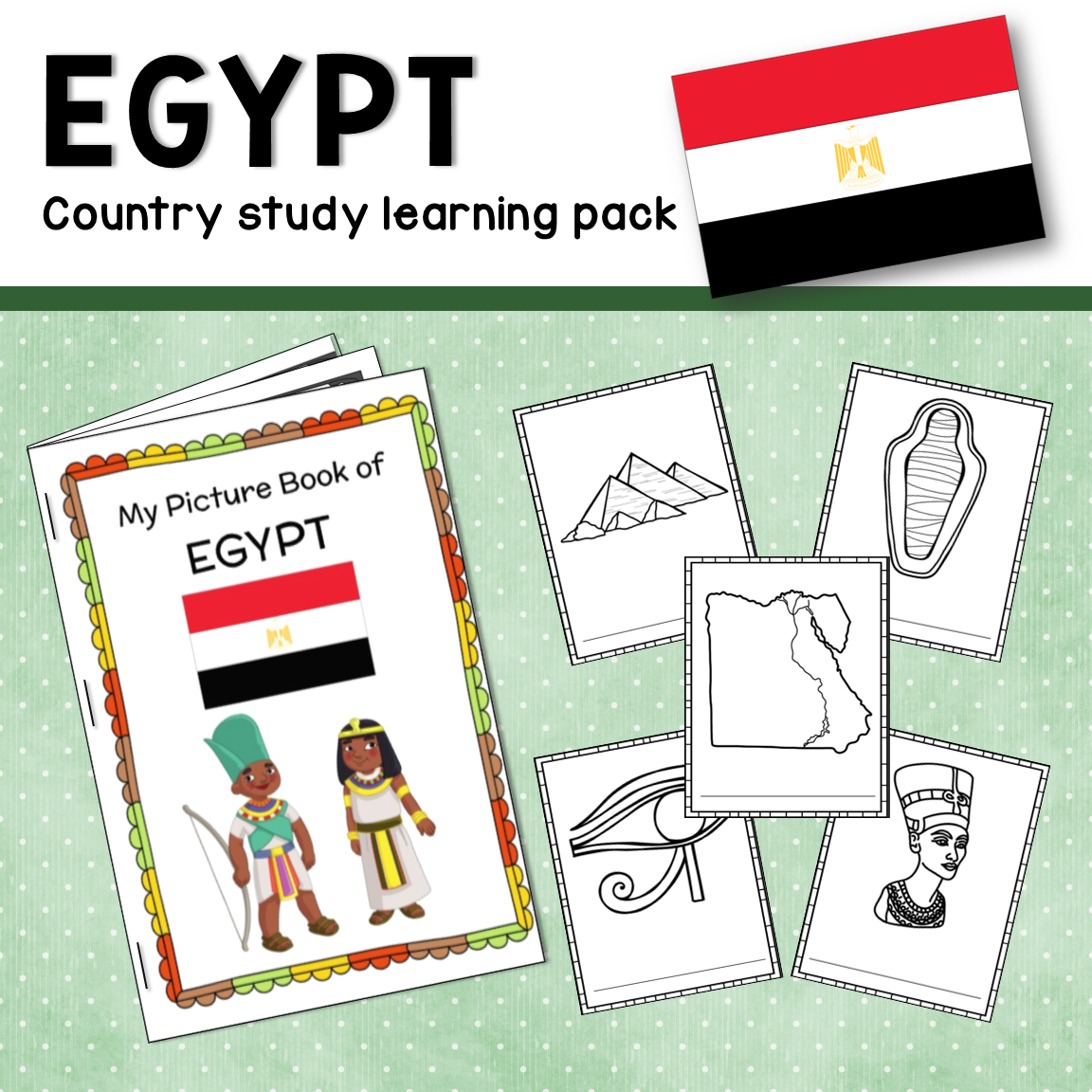 Ancient Egypt Learning Pack Reading Materials Activity