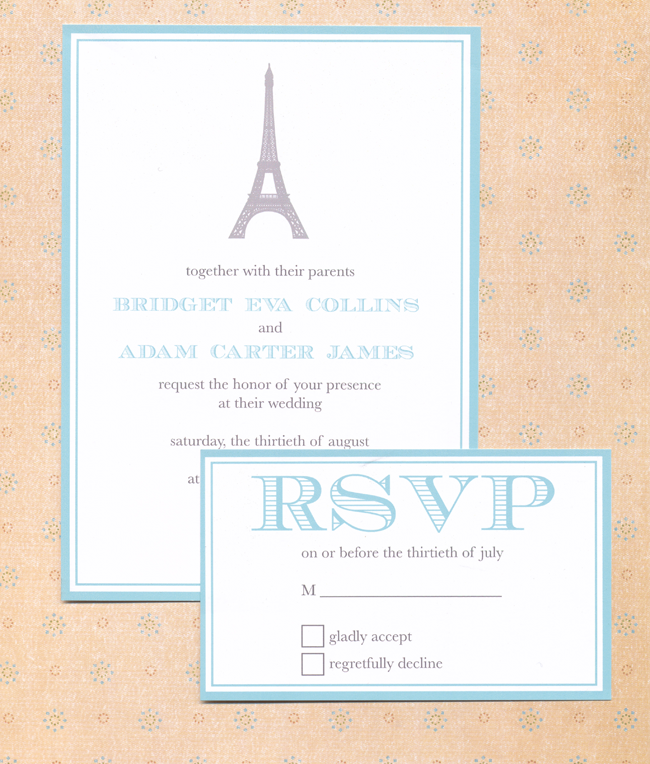 Paris Wedding Invitation Suite - Free Printable | Free wedding ...