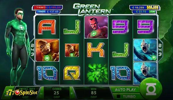 Sample the New Green Lantern Slot from Playtech