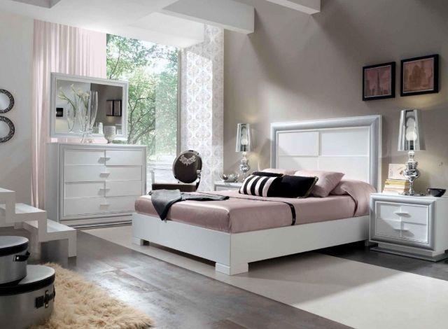 wandfarbe schlafzimmer creme weiße möbel zartrosa dekorationen
