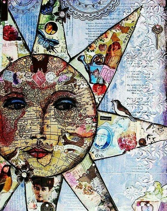 Good Sunday Morning...... Sun Collage Artwork. Sol. Soleil. Zon. ήλιος