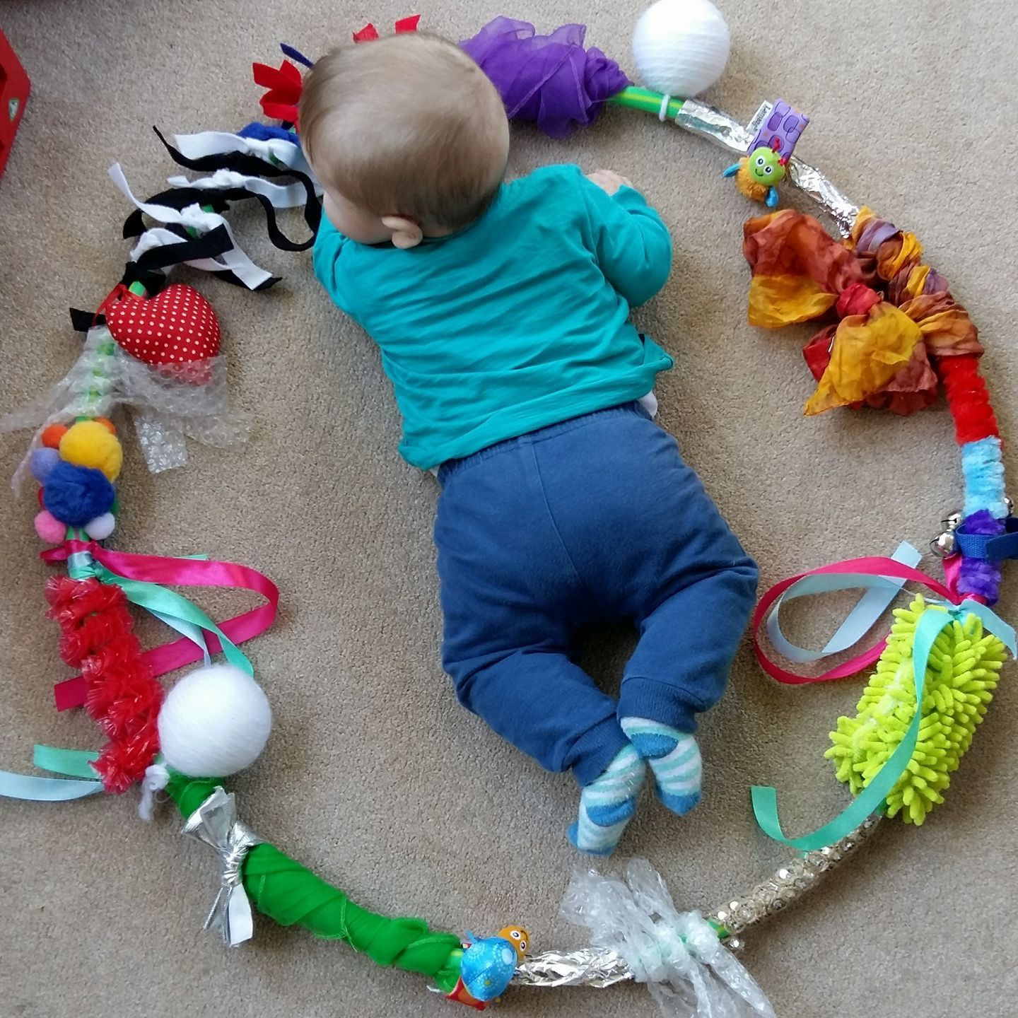 Homemade Board Game Ideas: Sensory Play Game Activity Game. Perfect For The Baby And