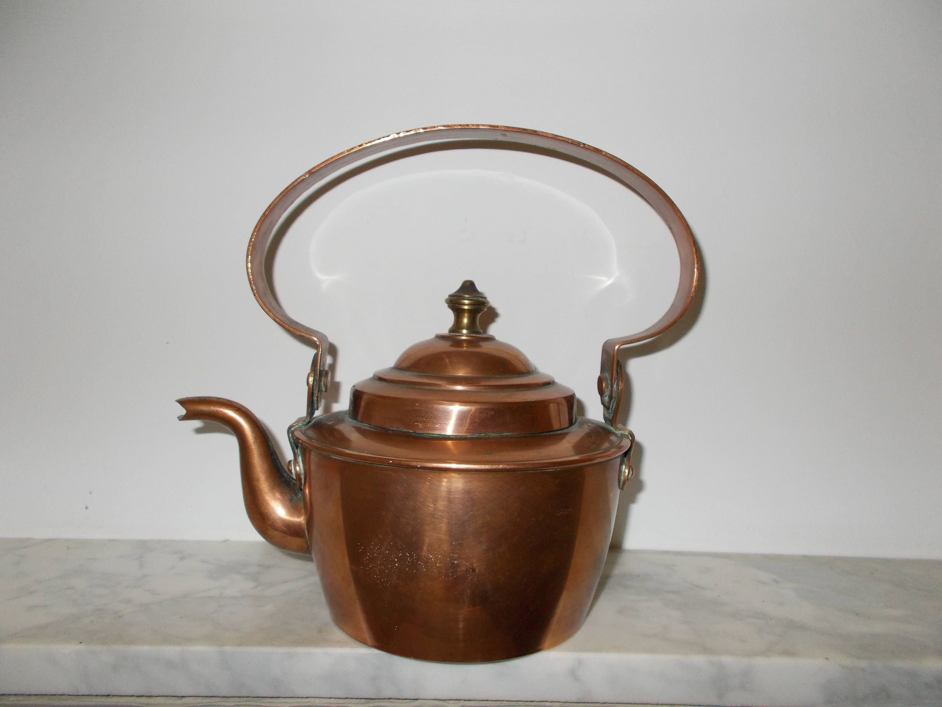 vintage copper small kettle french kettle and vintage