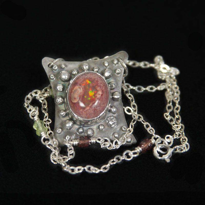Northern lights opal pendant mexican fire opal pendant sterling northern lights opal pendant mexican fire opal pendant sterling silver opal necklace fire aloadofball Image collections