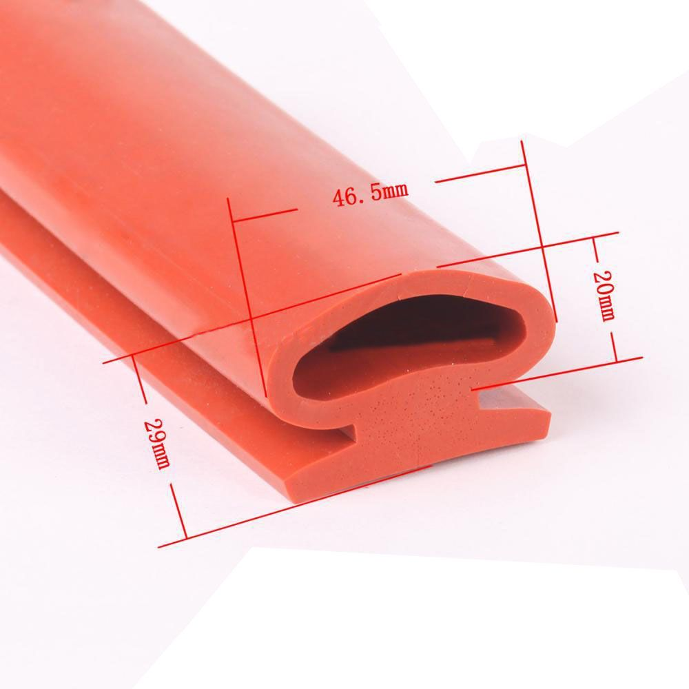 Silicone Extruded Profile Rubber Seal Strip Rubber Profile Window Door Seal Automotive Rubber Seal Rail Vehicle Rub Neoprene Rubber Plastic Trim Extrusion