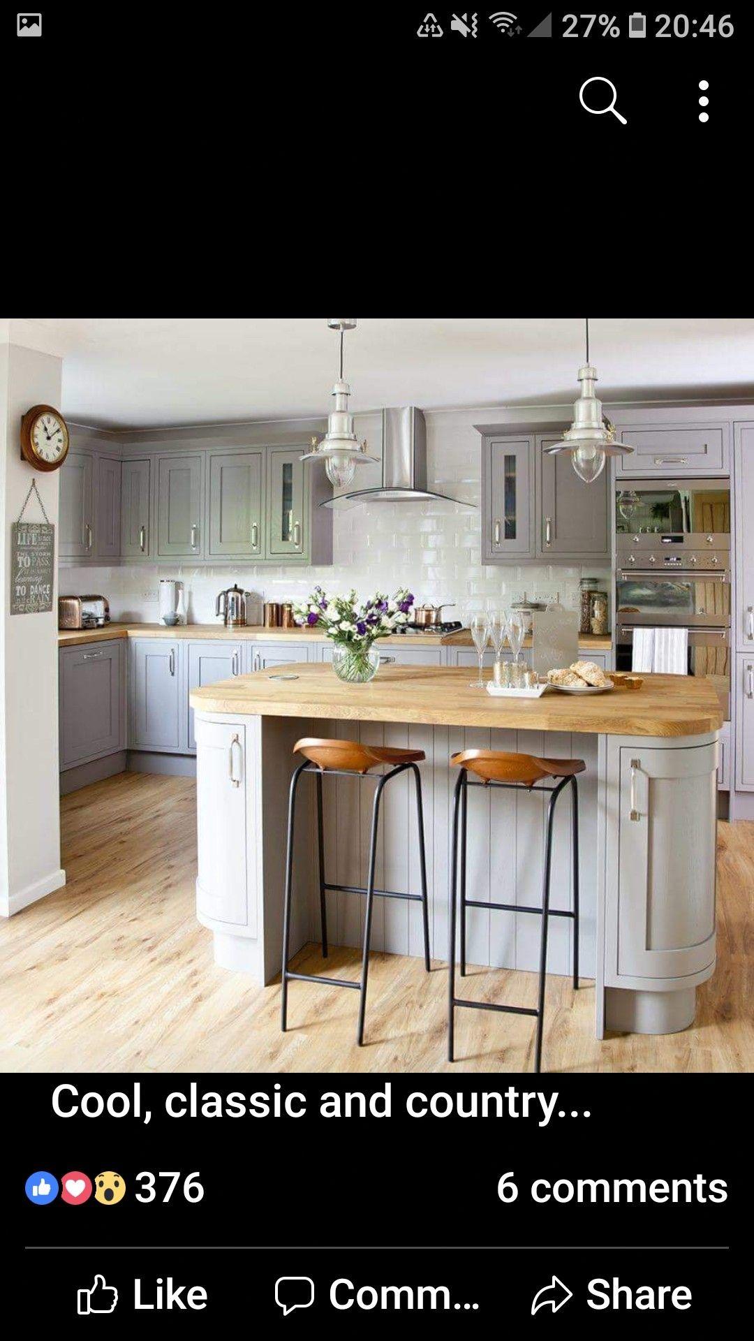 Kitchen Kitchen flooring, Grey kitchen colors, Wood