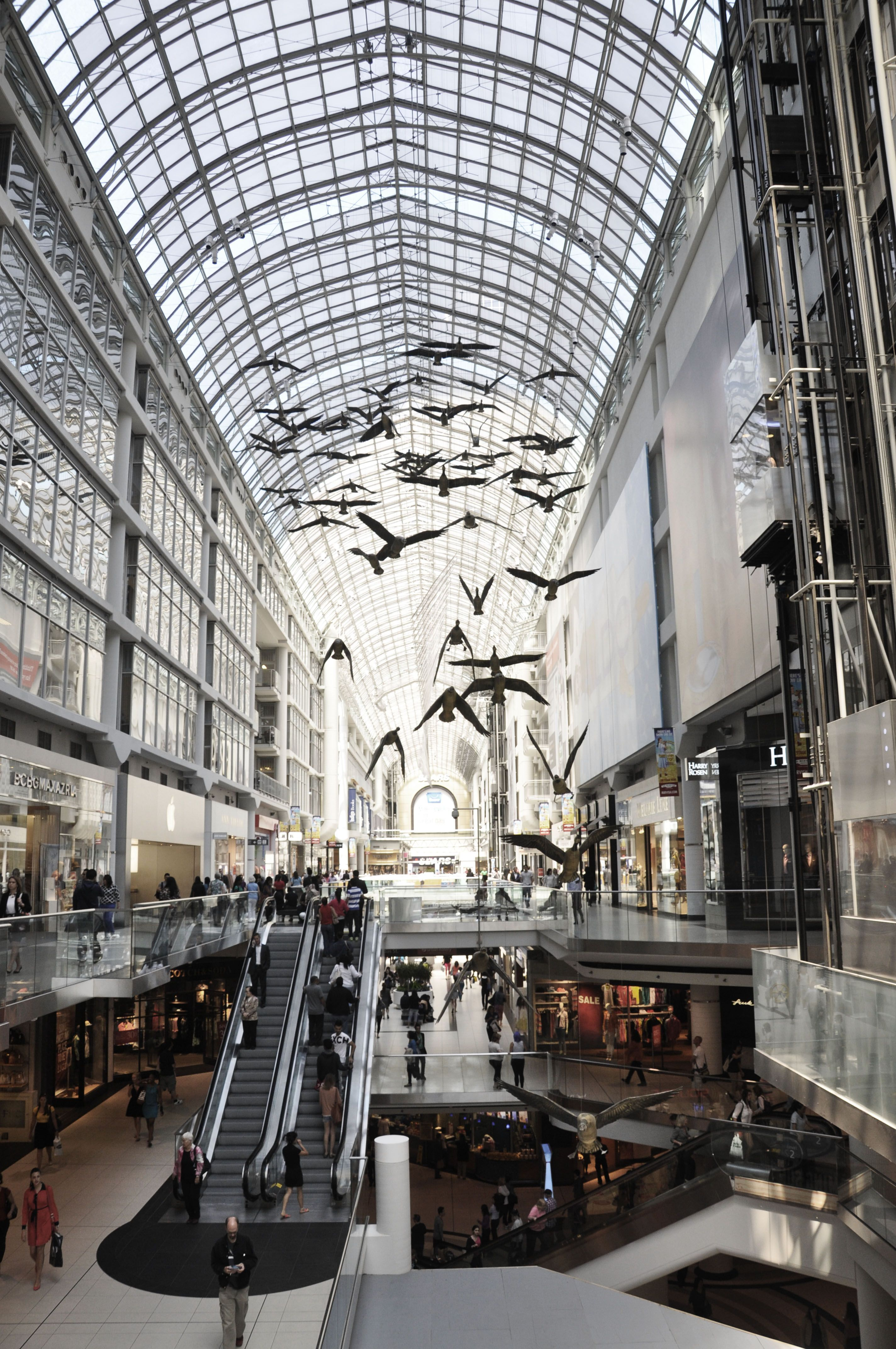 Eaton Center Shoppingmall In Toronto Curated By